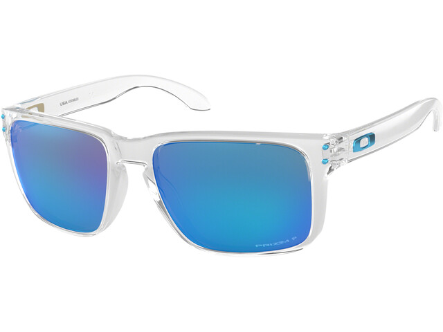 Oakley Holbrook XL Sunglasses Polished Clear/Prizm Sapphire Polarized